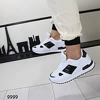 Черно-белые мужские кроссовки 9999