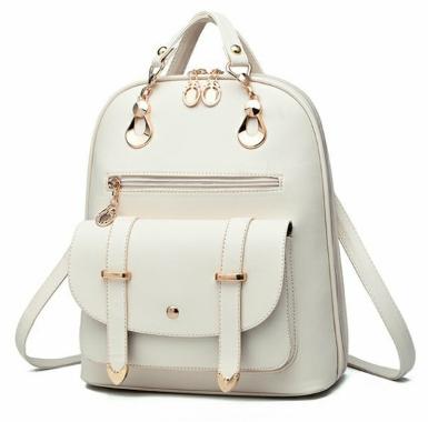 Рюкзак-сумка міський жіночий білий