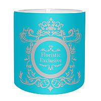 """Коробка для цветов """"Exclusive"""" (14х14 см) морская волна"""