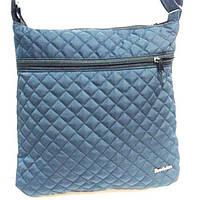 Стеганные клатчи на плечо (синий)30*31