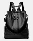 Рюкзак-сумка жіночий чорний Sujimima, фото 2