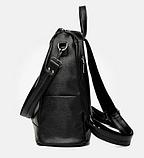 Рюкзак-сумка жіночий чорний Sujimima, фото 3