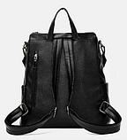 Рюкзак-сумка жіночий чорний Sujimima, фото 4