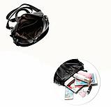 Рюкзак-сумка жіночий чорний Sujimima, фото 6