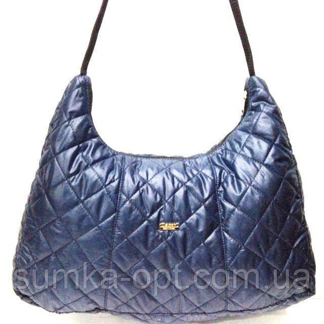 Стеганные сумки оптом из плотной ткани,водонепроницаемая (синий)25*44