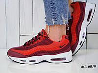 Кроссовки Nike Air Max 95 - Топ качество ААА+, Реальные фото - Найк Эир Макс 95 - Красные