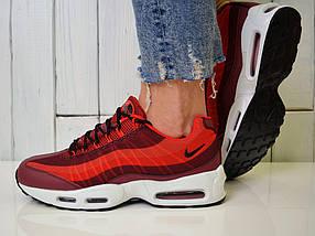 Кроссовки Nike Air Max 95 - Топ качество ААА+, Реальные фото - Найк Эир Макс 95 - Красные, фото 2