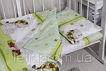 Детский комплект в кроватку с компаньоном Мой ангелочек зелен.