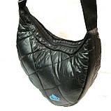 Дутые сумки под пуховик Nike (черный+голубой)21*36, фото 2