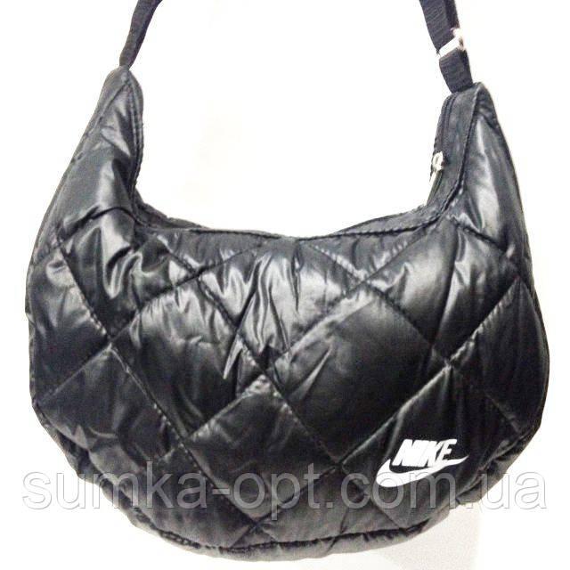 Дутые сумки под пуховик Nike (черный+белый)21*36