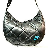 Дутые сумки под пуховик Nike (черный+голубой)21*36