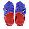 Подростковые кроксы. Синие с красным. 116122