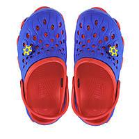 Подростковые кроксы. Синие с красным. 116122, фото 1