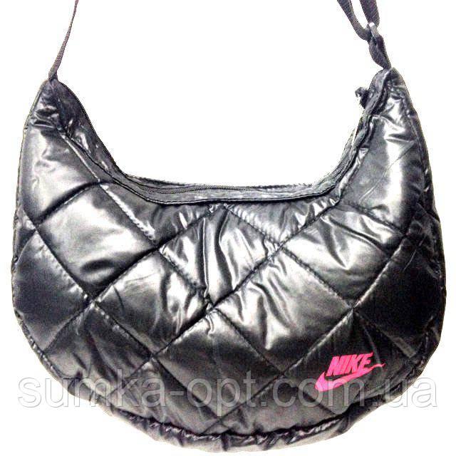 Дутые сумки под пуховик Nike (черный+розовый)21*36