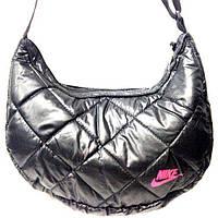 Дутые сумки под пуховик Nike (черный+розовый)21*36, фото 1