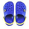 Кроксы для мальчика синие с желтым. Копия.