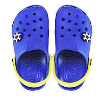Кроксы для мальчика синие с желтым. Копия., фото 1