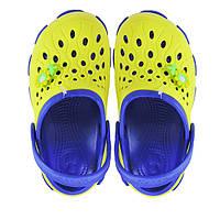Подростковые кроксы лимонные с синим. Копия., фото 1