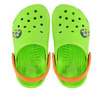 Детские кроксы. Салатовые с оранжевым. 116132, фото 1