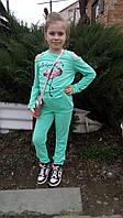"""Костюм детский стильный с принтом """"Фламинго"""" на девочку-подростка"""