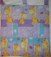 """Карман-приборник на кроватку -""""Жираф""""                         Фиолетовый"""