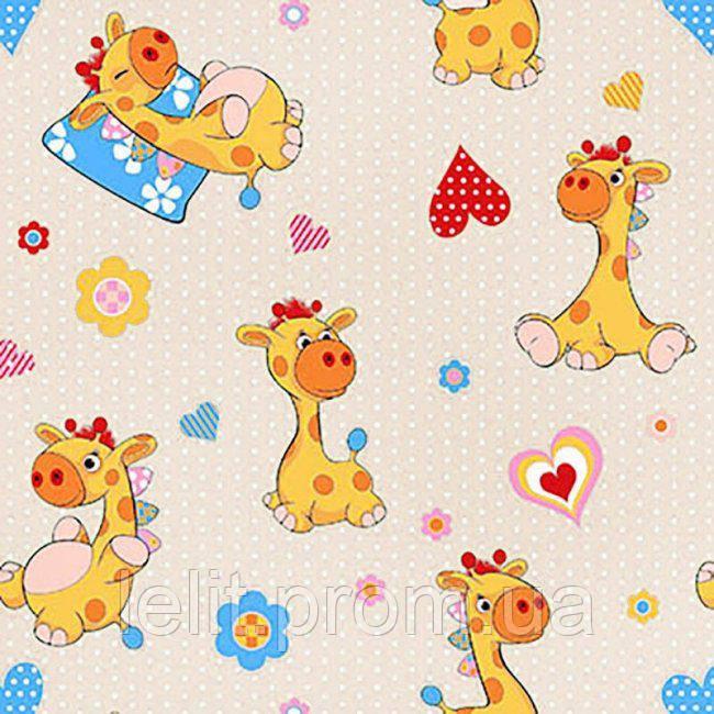 Детский комплект в кроватку Жирафик бежевый