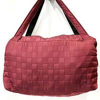 Женские стеганные сумки дешево опт (бордо)28*38