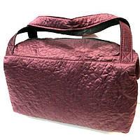Женские стеганные сумки дешево опт (каштан)28*38