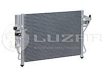 Радиатор кондиционера Гетс Hyundai Getz 1.1/1.3/1.4/1.6 (02-) с ресивером (97606-1C100 / 97606-1C)