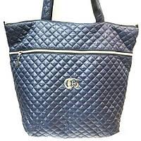 Стеганные сумки оптом (синий)39*44