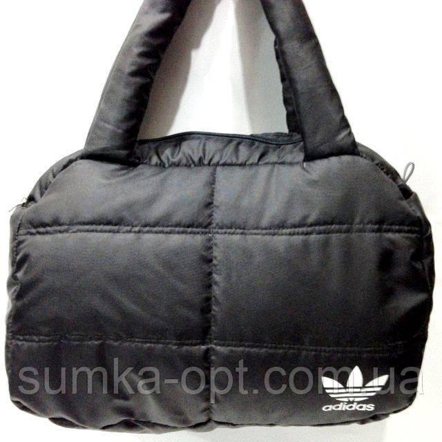 Дутые сумки под пуховик Adidas (черн+бел)24*38