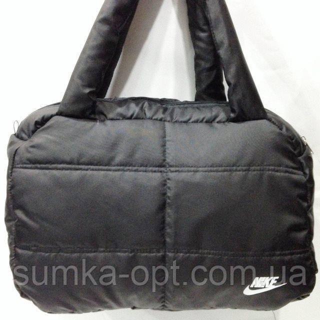 Дутые сумки под пуховик Nike (черн+бел)24*38