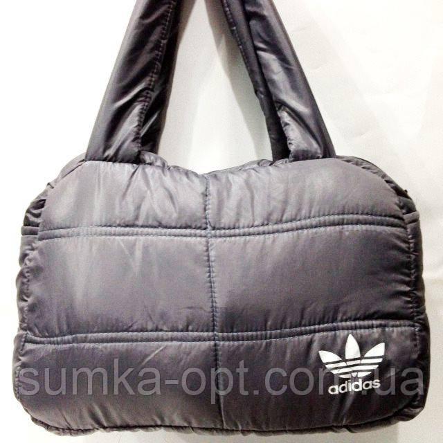 Дутые сумки под пуховик Adidas (серый+бел)24*38