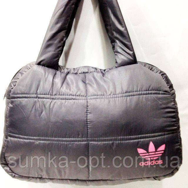 Дутые сумки под пуховик Adidas (серый+роз)24*38