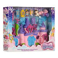 Замок 16801 28-29-16 см, звук, свет, карета, фигурки  2 шт, 6 см, мебель, на бат-ке, в коробке62-40-9,5 см