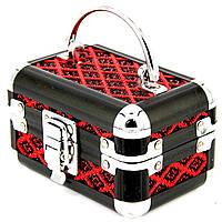 Шкатулка для украшений черно-красный ромб 8139-1