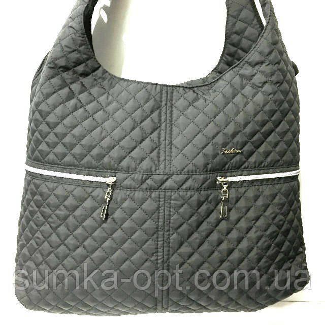 Стеганные большие сумки (черный)33*40