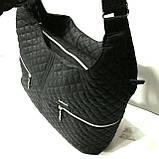 Стеганные большие сумки (черный)33*40, фото 2