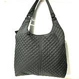 Стеганные большие сумки (черный)33*40, фото 3