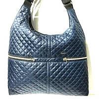 Стеганные большие сумки (синий)33*40, фото 1
