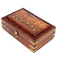 Резная  деревянная шкатулка большая WD.264-1