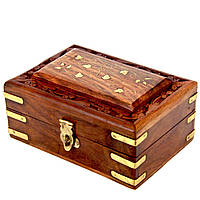 Резная деревянная шкатулка для украшений маленькая WD.264-3