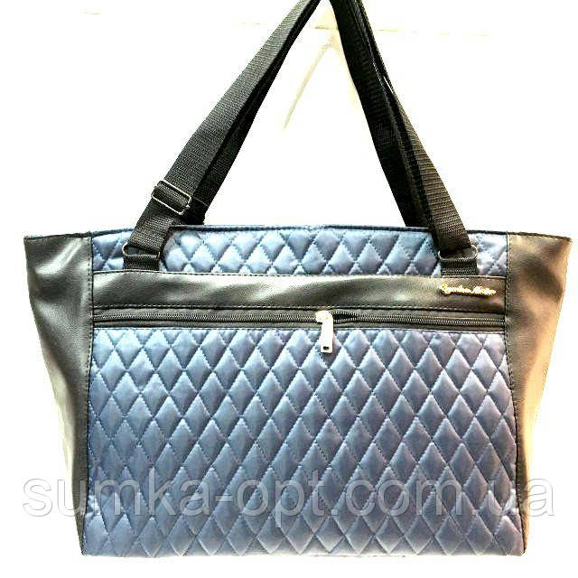 Стеганные большие сумки (синий)29*52
