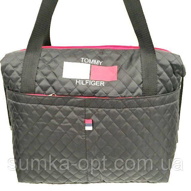Стеганные стильные сумки TH (черный)28*43