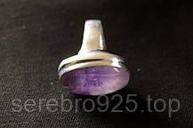Серебряное кольцо с натуральным аметистом 17,25 размер, фото 3