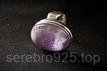 Серебряное кольцо с натуральным аметистом 17,25 размер, фото 2