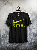 Черная мужская футболка Nike с оригинальным принтом