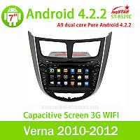 Штатная автомагнитола LsqStar ST-8329С Hyundai Verna 2010-2012/Accent/Solaris