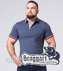 Braggart   Футболка мужская большого размера 17093-1 серо-синий