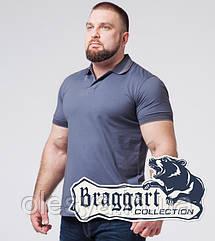 Braggart   Футболка мужская большого размера 6635-1 серо-синий